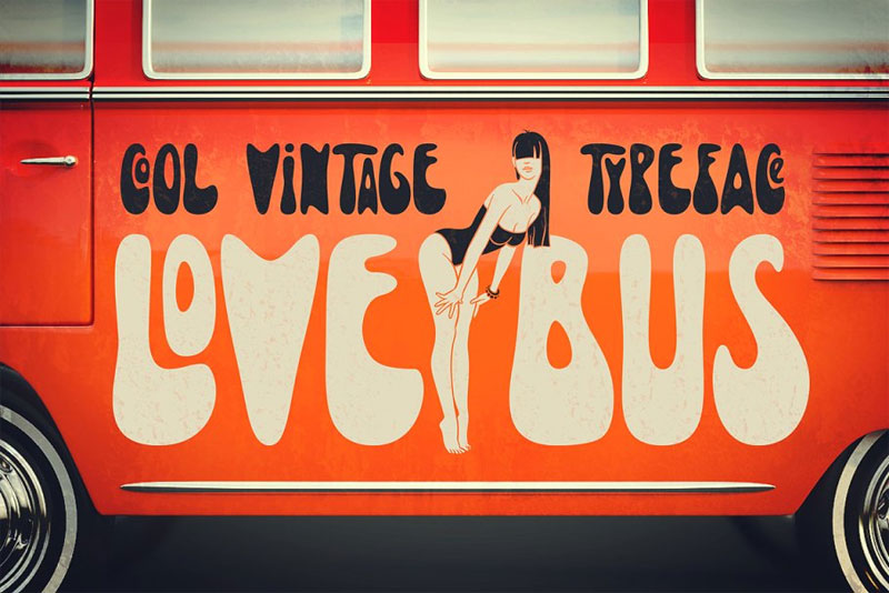 lovebus cartoon font