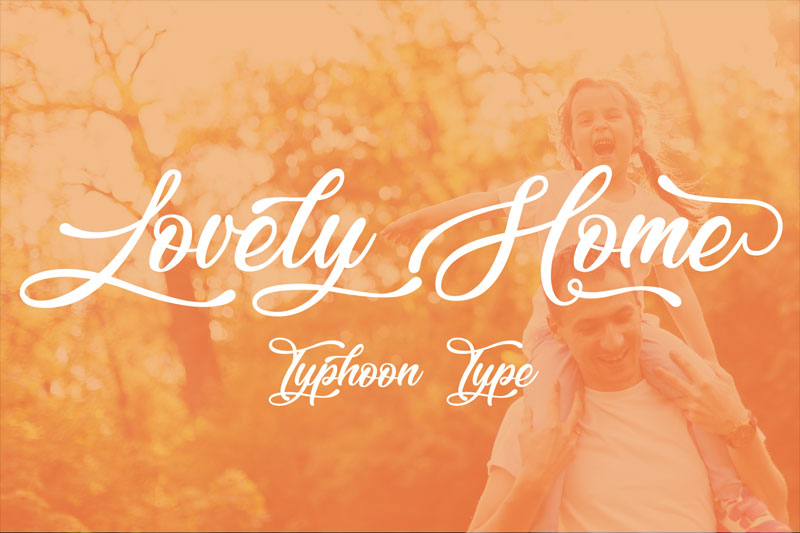 lovely home wedding font