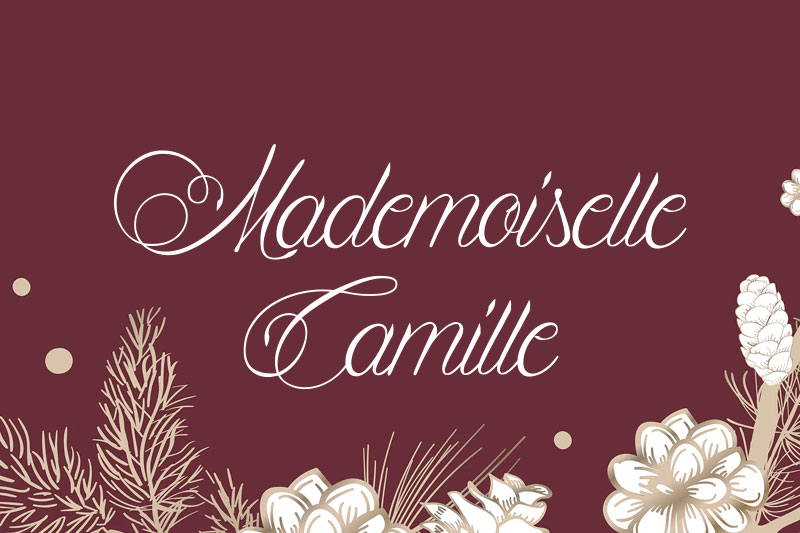 mademoiselle camille wedding font