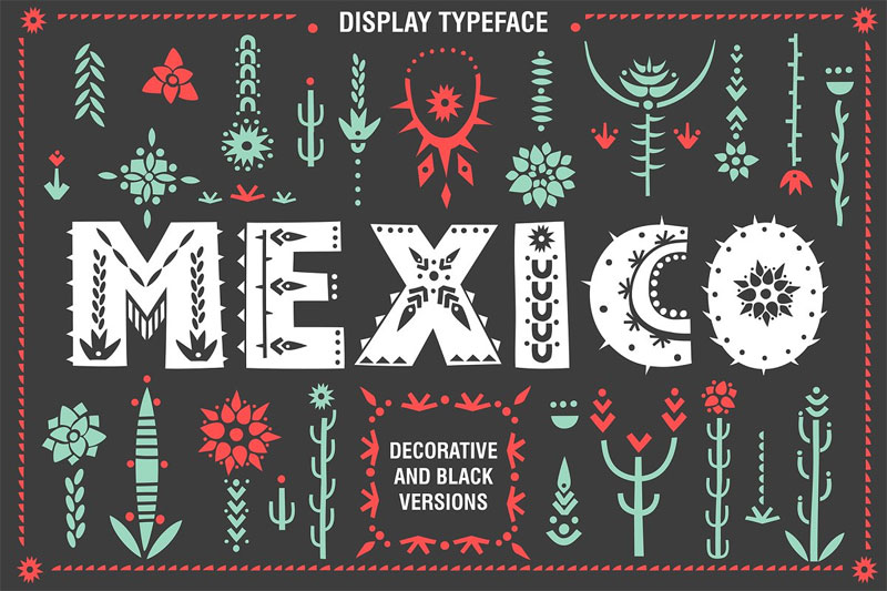 mexico tribal font
