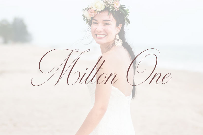 milton one wedding font