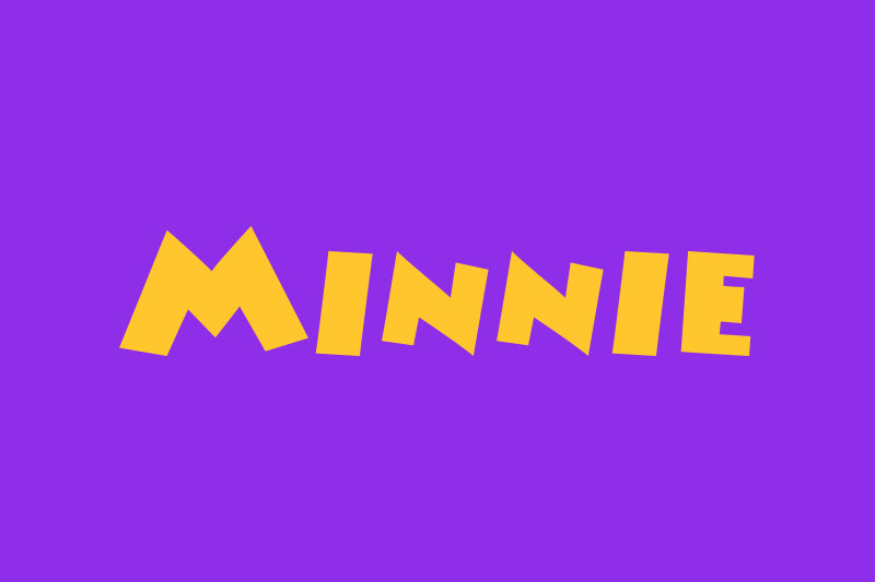 minnie cartoon font