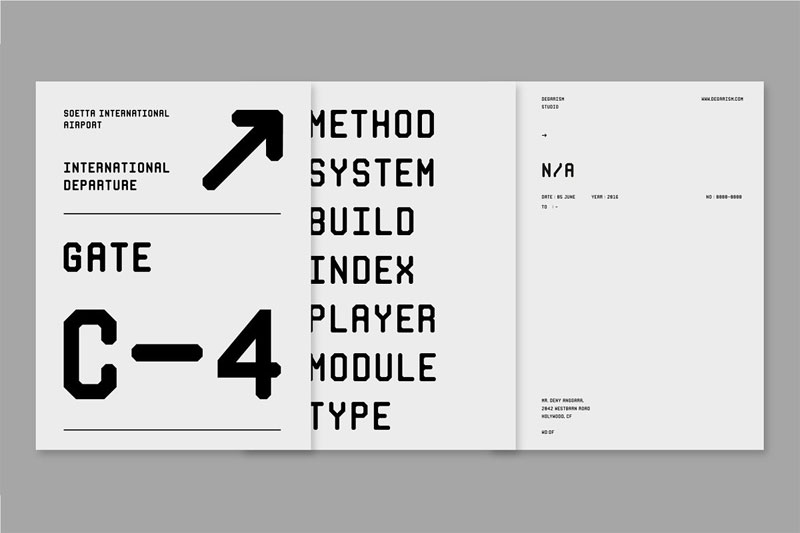 monorama industrial font