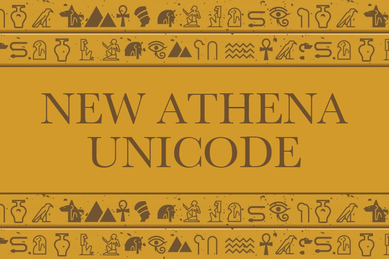 new athena unicode egyptian font
