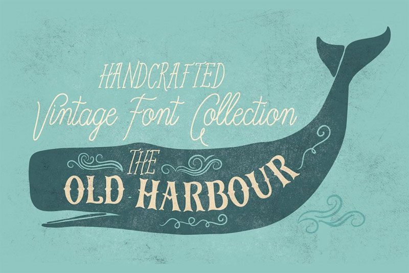 old harbour nautical font