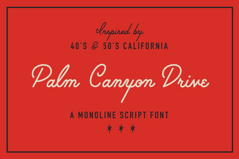 palm canyon drive summer and beach font