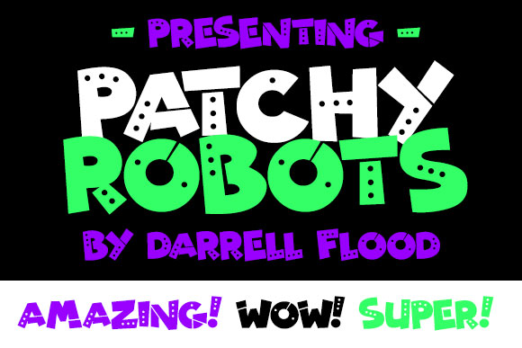 patchy robots cartoon font