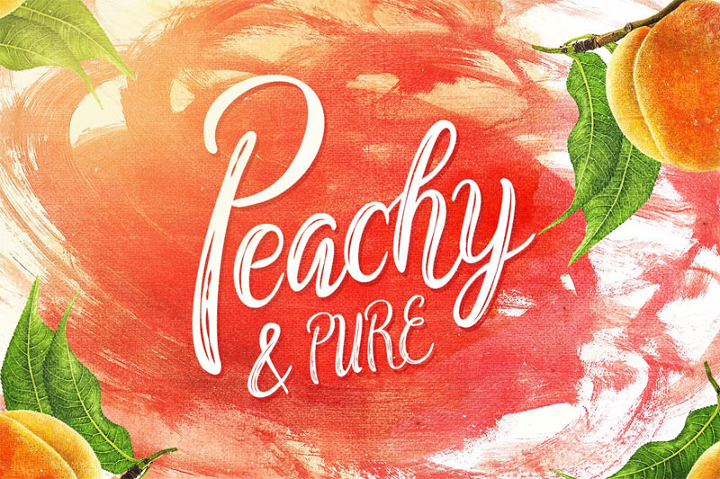 peachy & pure typeface summer and beach font