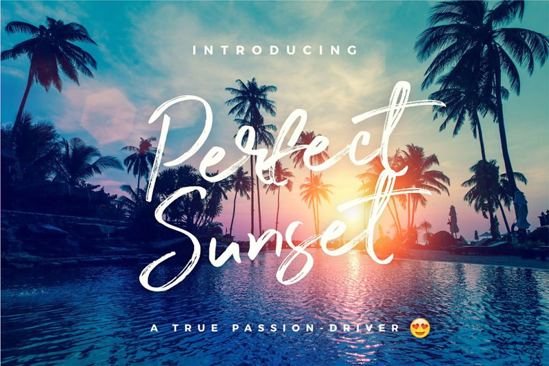 perfect sunset typeface summer and beach font