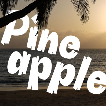 pineapple cartoon font
