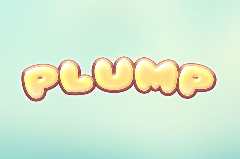 pleasantly plump cartoon font