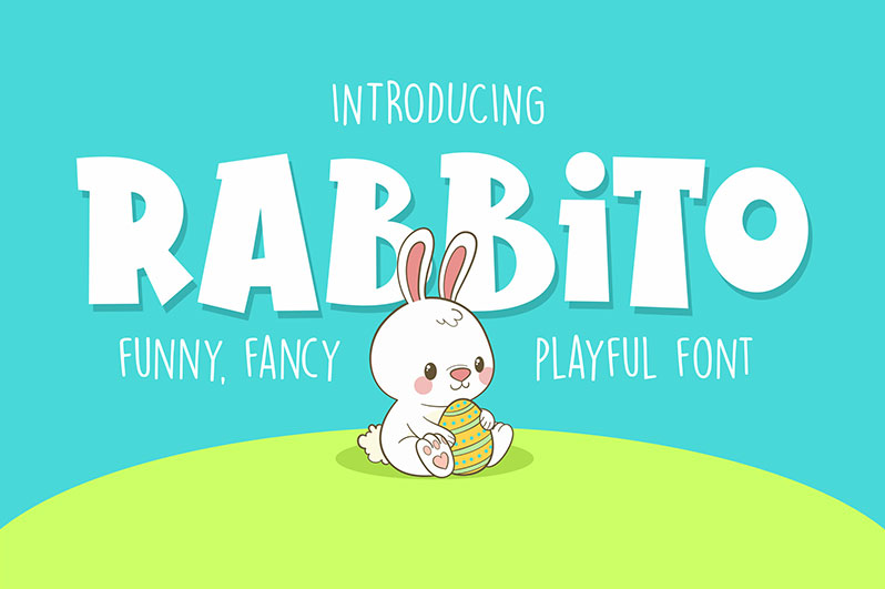 rabbito cartoon font