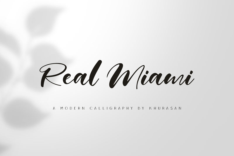 real miami wedding font