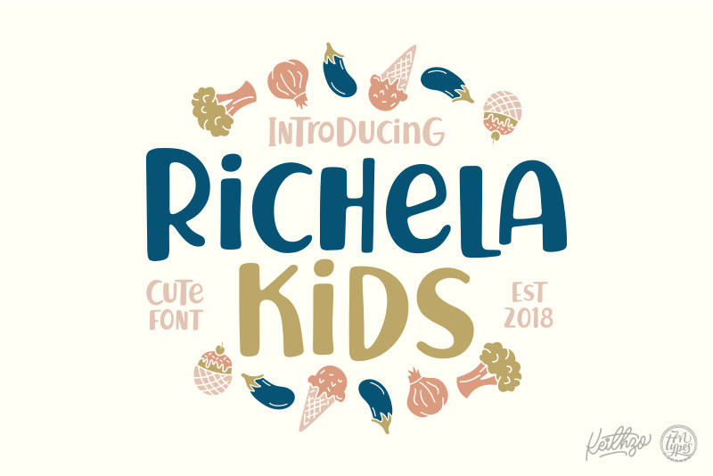 richela kids cartoon font