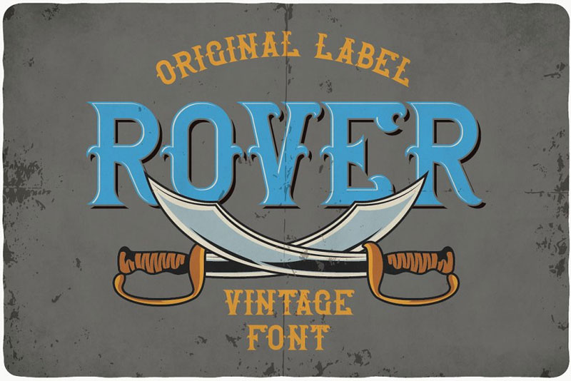 rover typeface pirate font