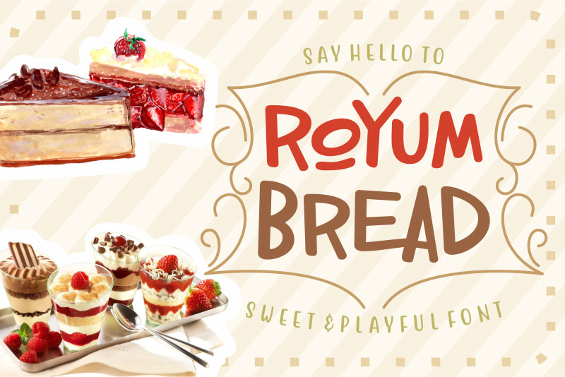 royum bread cartoon font