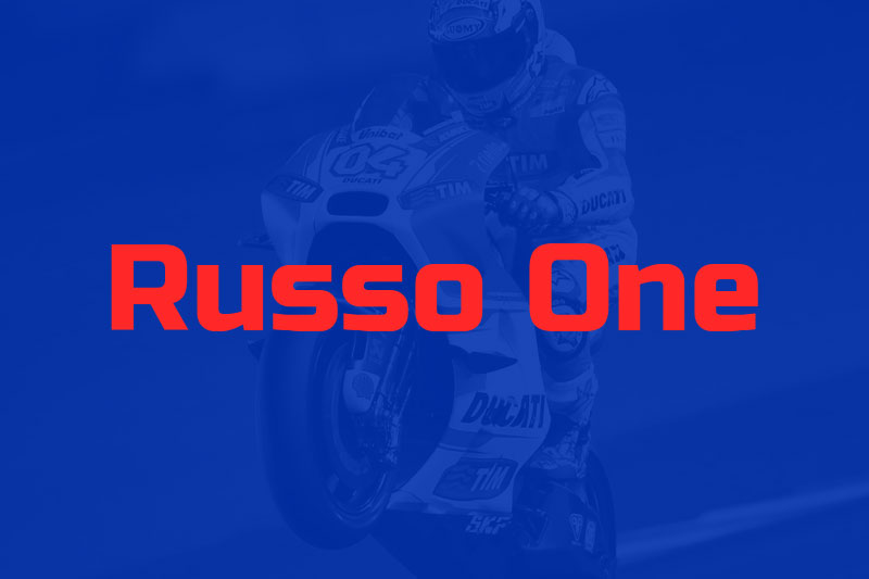 russo one racing font