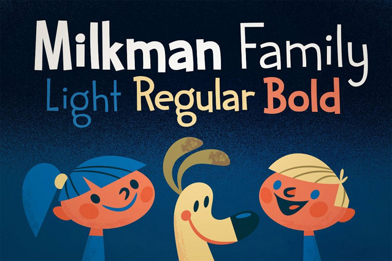 sale! milkman family cartoon font