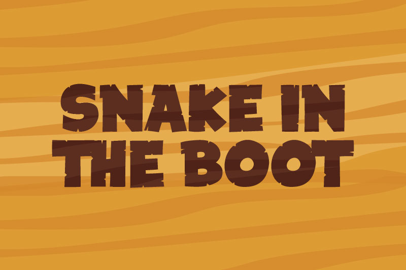 snake in the boot cartoon font