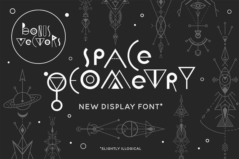 space geometry tribal font