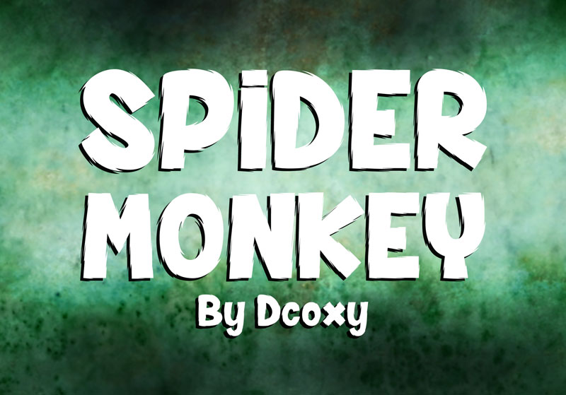 spider monkey cartoon font