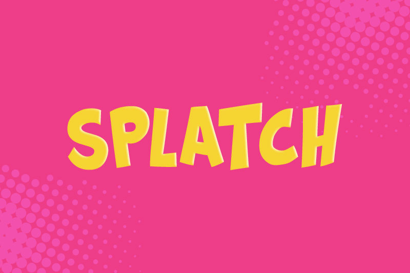 splatch cartoon font