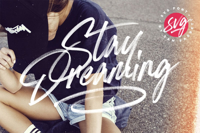 stay dreaming svg summer and beach font