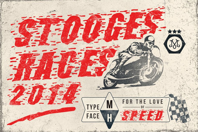 stooges races racing font