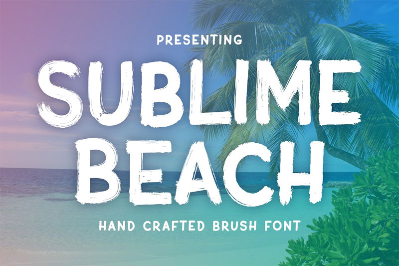 sublime beach summer brush summer and beach font