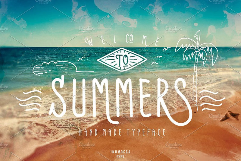 summers typeface summer and beach font