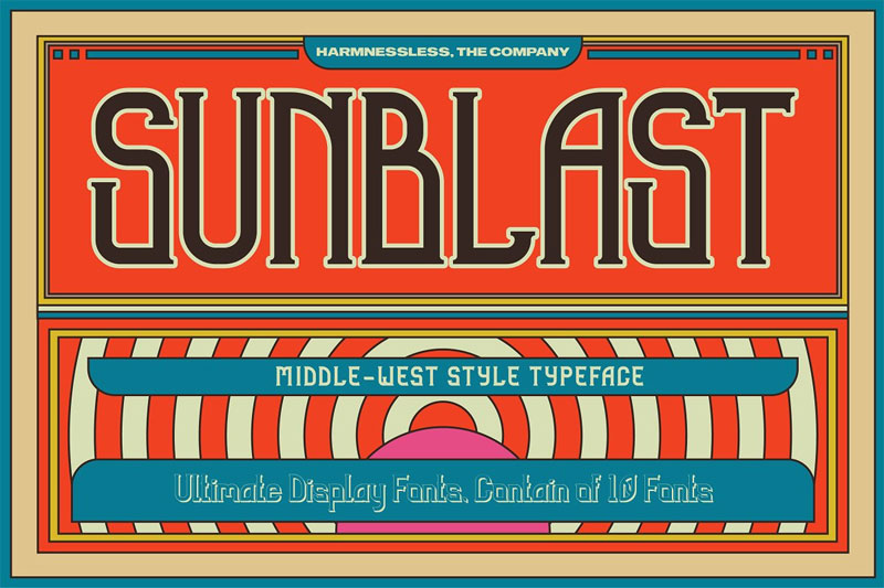 sunblast display typeface egyptian font