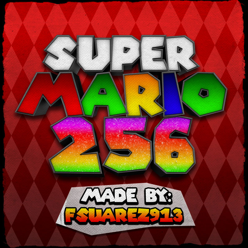 super mario 256 cartoon font