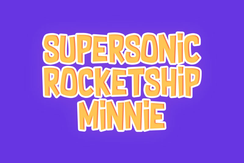 supersonic rocketship minnie cartoon font