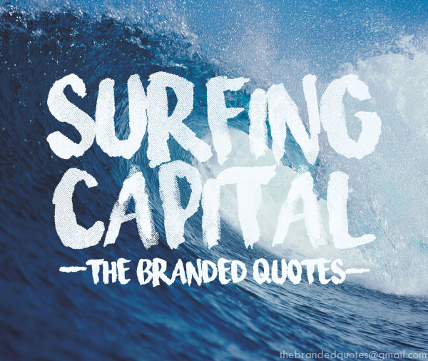 surfing capital summer and beach font