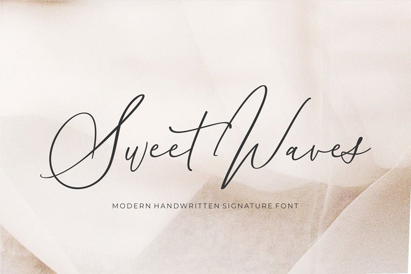 sweet waves wedding font