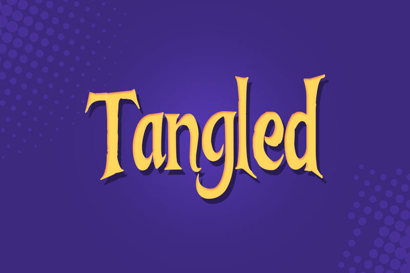 tangled cartoon font