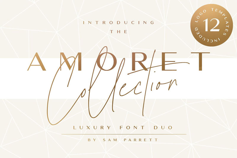 the amoret wedding font
