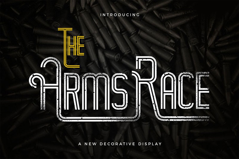 the arm race racing font