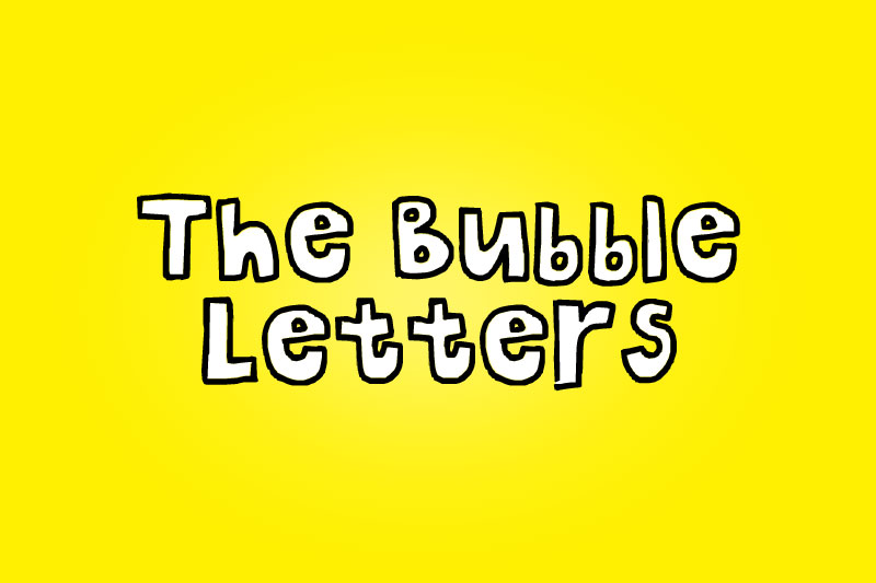 the bubble letters cartoon font
