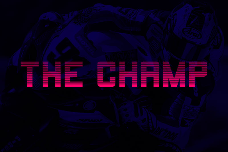 the champ racing font