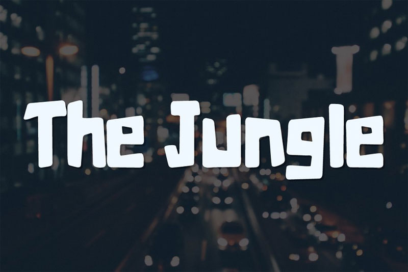 the jungle typeface cartoon font