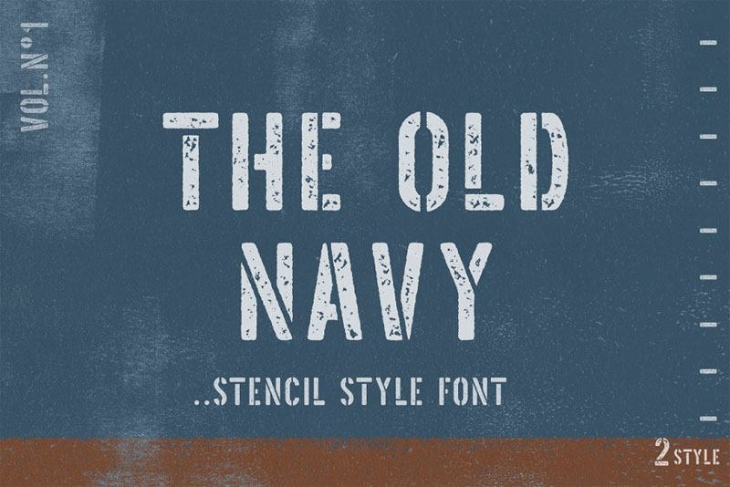 the old navy nautical font