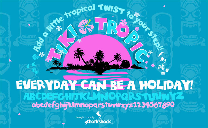 tiki tropic cartoon font