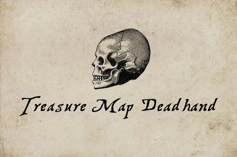 treasure map deadhand pirate font