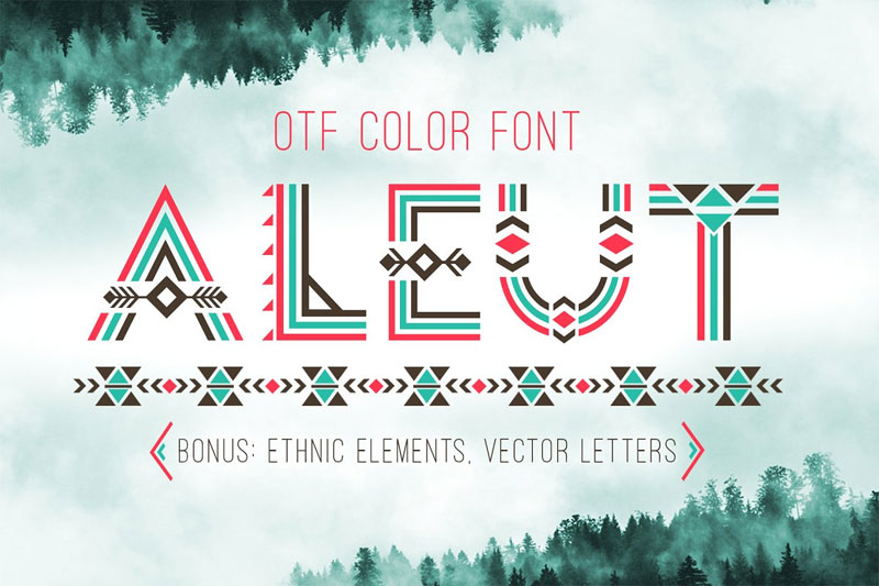 tribal aleut otf color tribal font