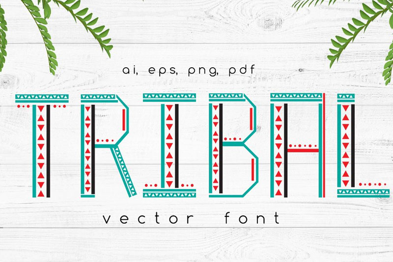 tribal vector tribal font