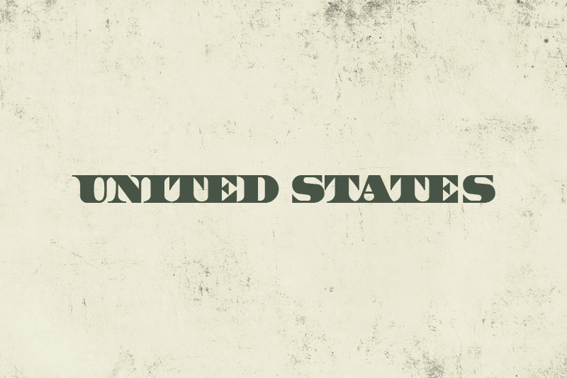 united states money font