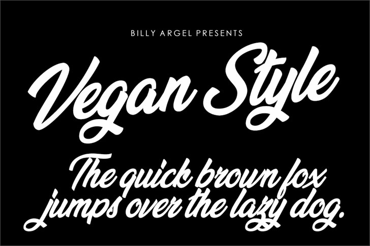 vegan style personal use summer and beach font