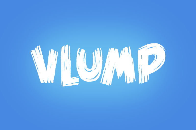 vlump cartoon font