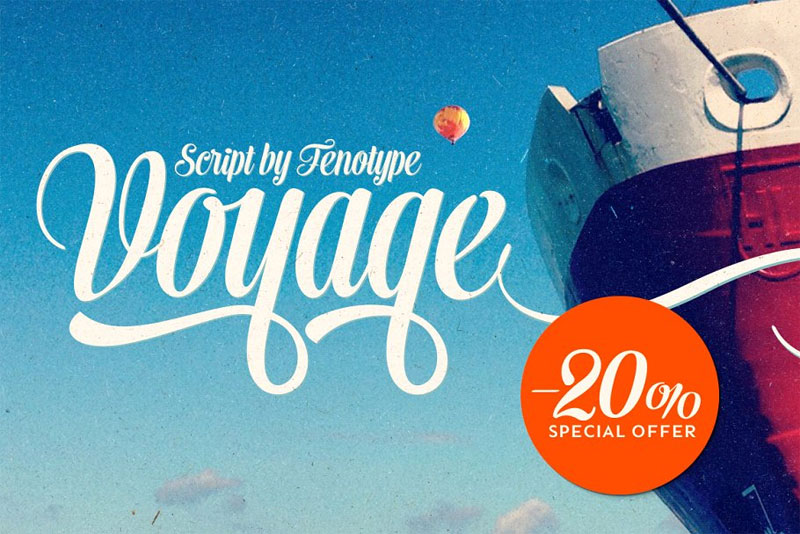 voyage summer and beach font
